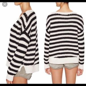 Chunky Knit Free People Striped Sweater
